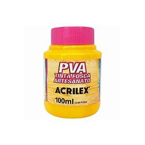 Tinta Fosca Artesanato PVA 100ml - Amarelo Ouro R505 - 1 unidade - Acrilex - Rizzo