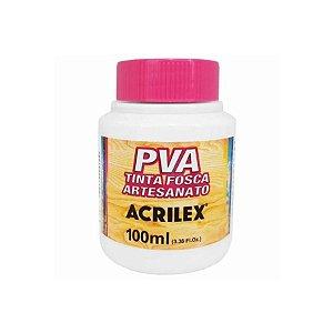 Tinta Fosca Artesanato PVA 100ml - Branco R519 - 1 unidade - Acrilex - Rizzo