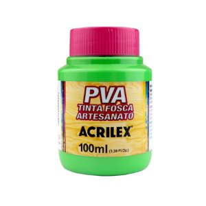 Tinta Fosca Artesanato PVA 100ml - Verde Folha R510 - 1 unidade - Acrilex - Rizzo