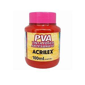 Tinta Fosca Artesanato PVA 100ml - Vermelho Escarlate R508 - 1 unidade - Acrilex - Rizzo