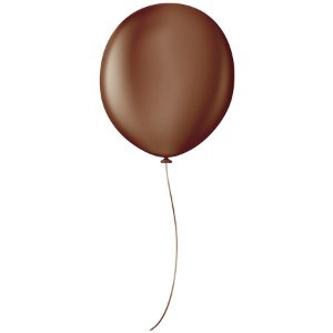 "Balão Profissional Premium Uniq 16"" 40cm - Marrom Terra - São Roque - Rizzo"