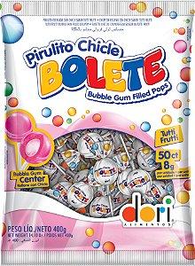 Pirulito Chicle Bolete Tutti Frutti 400g - Dori Alimentos - Rizzo