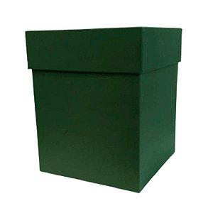 Caixa Rígida Luxo Premium - Verde Escuro - 16cm x 16cm x 20cm - Rizzo