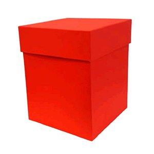 Caixa Rígida Luxo Premium - Vermelha - 16cm x 16cm x 20cm - Rizzo