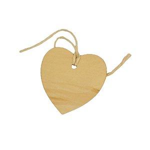 Tag Coração em Madeira com 6 un - ArtLille Rizzo