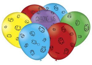 "Balão Especial 9"" Festa Among Us - 25 unidades - Festcolor - Rizzo"