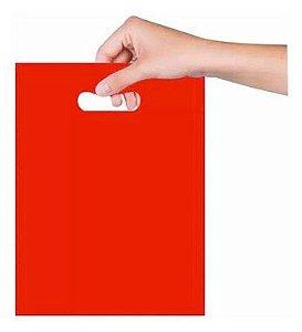Sacola Sorriso 16x20 cm - Vermelha - Magnatech