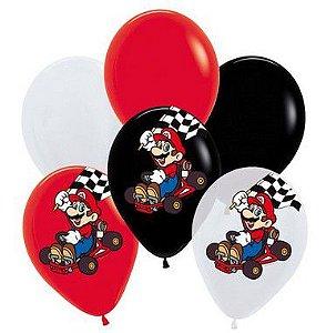 Balões Festa Mario Kart - 12 unidades - Cromus - Rizzo Festas