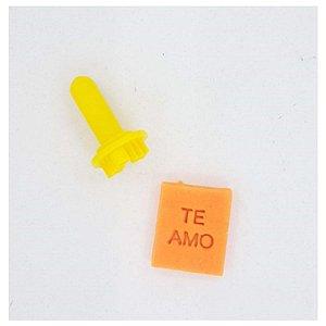 Carimbo Mini - Te Amo - Imprimire 3D - Rizzo Confeitaria