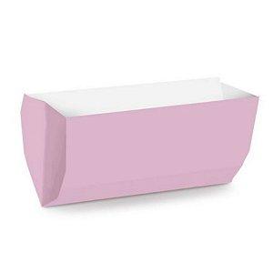 Saquinho de Papel para Hot Dog 17,5x9x5cm - Liso Rosa Bebê - 50 unidades - Cromus - Rizzo