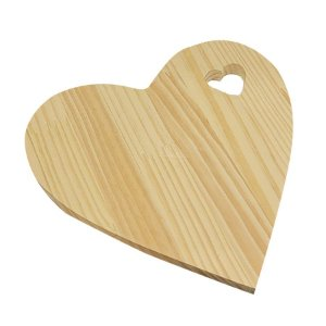 Tabua Coração de Madeira 25X25X1,5 cm 1un. Rizzo