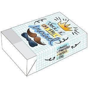 Caixa Divertida para 6 doces Pai Incrível Ref. 2443 - 10 unidades - Erika Melkot Rizzo