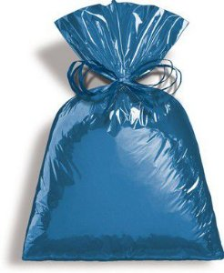 Saco Metalizado Azul Intenso 35x54cm - 50 unidades - Cromus - Rizzo