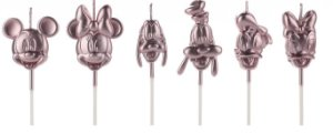 Vela Turma Mickey Rose Gold Disney Silver Festas Rizzo