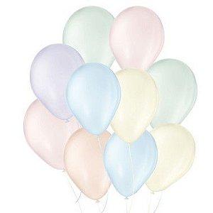 Balão de Festa Látex Candy Colors - Sortido  - 25 Unidades - São Roque - Rizzo