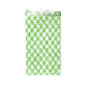 Saquinho de Papel Xadrez Verde 8X14 cm - 50 un. - Kaixote - Rizzo