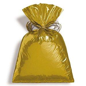Saco Metalizado Dourado 15x22cm - 50 unidades - Cromus - Rizzo