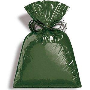 Saco Metalizado Dark Green 15x29cm - 50 unidades - Cromus - Rizzo