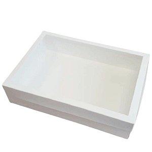 Caixa com Visor Branca - KB31 - 35x25x8cm - Rizzo Confeitaria
