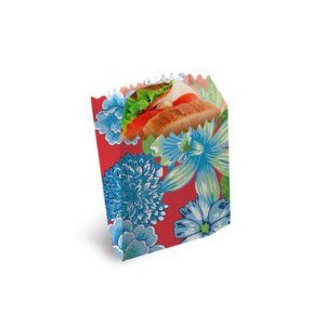 Saquinho para Lanche Chita Vermelha 10x8x4cm Festa Junina - 50 unidades - Cromus - Rizzo