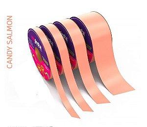 Rolo Fita Lisa Candy Salmon - 30mm x 50m - EmFesta