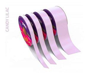Rolo Fita Lisa Candy Lilás - 15mm x 50m - EmFesta
