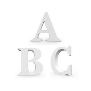 Letra MDF Branca com 12cm de Altura - Rizzo