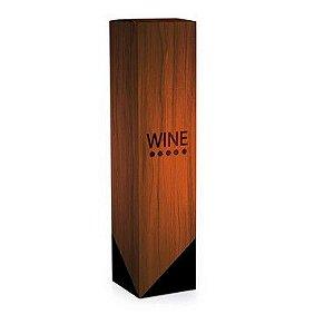 Caixa para Garrafa de Vinho 8x8x33cm - Estampa Madeira Wine - 10 unidades - Cromus - Rizzo