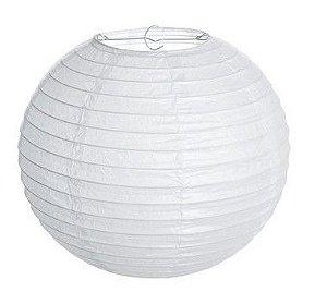Lanterna de Papel Branco 20cm - 01 unidade - Cromus - Rizzo