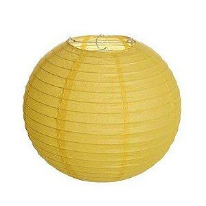 Lanterna de Papel Amarelo 35cm - 01 unidade - Cromus - Rizzo
