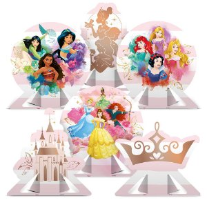 Decoração de Mesa - Festa Princesas Disney - 06 unidades - Regina - Rizzo