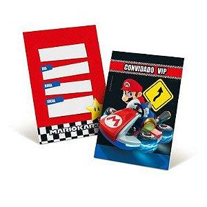 Convite Festa Mario Kart - 8 unidades - Cromus - Rizzo