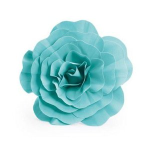 Flor Decorativa Turquesa 40cm - 01 unidade - Cromus - Rizzo