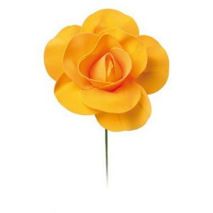 Flor Decorativa Laranja 15cm - 01 unidade - Cromus - Rizzo