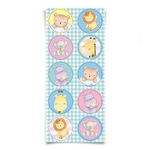 Adesivo Redondo para Lembrancinha Festa Bichinhos Baby - 30 unidades - Cromus - Rizzo