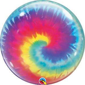 "Balão de Festa Bubble Tie Dye 22"" 56cm - 01 Unidade - Qualatex - Rizzo"