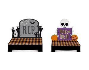 Kit Suporte para Doces Halloween - Doces ou Travessuras - 02 unidades - Cromus - Rizzo
