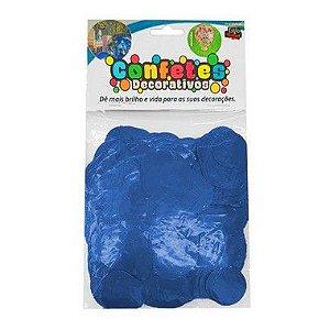 Confete Redondo Metalizado 25g - Azul Royal Dupla Face - Rizzo
