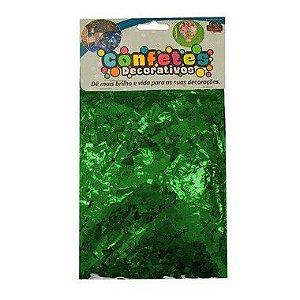 Confete Mini Picadinho Metalizado 25g - Verde Escuro Dupla Face - Rizzo