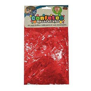 Confete Mini Picadinho Metalizado 25g - Vermelho Dupla Face - Rizzo