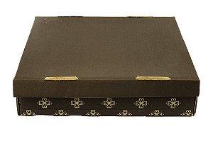 Caixa para Transporte Nº1 Impresso Marrom 30x30x7 Sulformas Rizzo