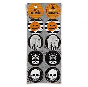 Adesivo Redondo Decorativo Halloween - 30 unidades - Cromus - Rizzo