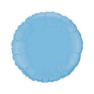 """Balão de Festa Metalizado 20"""" 50cm - Redondo Azul Baby - 01 Unidade - Flexmetal - Rizzo"""