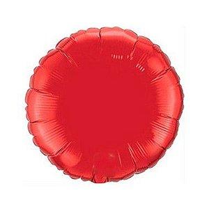 """Balão de Festa Metalizado 20"""" 50cm - Redondo Vermelho - 01 Unidade - Flexmetal - Rizzo"""