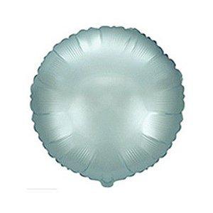 """Balão de Festa Metalizado 20"""" 50cm - Redondo Azul Pastel - 01 Unidade - Flexmetal - Rizzo"""