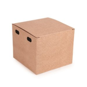 Caixa para Hamburguer Kraft 11,5X11,5x9,5 com 50 un Cromus Delivery Rizzo