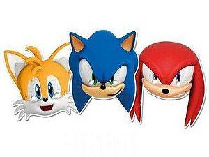 Máscara Festa Sonic - 6 unidades - Regina - Rizzo Festas