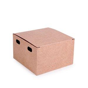 Caixa para Hamburguer Kraft 11,5X11,5x7 com 50 un Cromus Delivery Rizzo