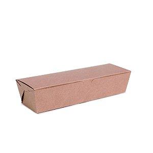 Caixa para Hot Dog Kraft 23,5X78,5x5 com 50 un Cromus Delivery Rizzo