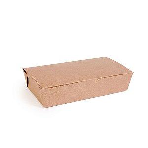Caixa para Porção Kraft 21,5X11,3x5 com 50 un Cromus Delivery Rizzo